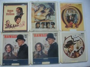 VINTAGE LOT OF 6 RCA SELECTA VISION VIDEO DISCS CED FORMAT
