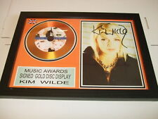 KIM WILDE    SIGNED  GOLD  DISC  Y
