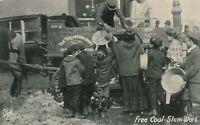 Free Coal - Slum Work Salvation Army Patriotic Postcard