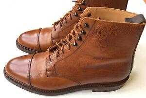 Crockett Jones x Peal Co. Coniston Grain Cap Toe Danite Boots 10.5 D $650