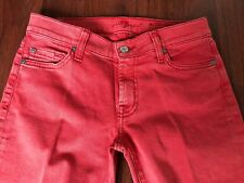 For All Mankind Cropped Coral Jeans Size 27