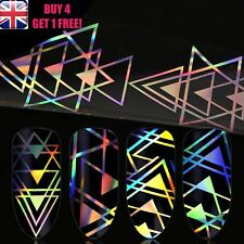 Holographic Nail Art Foil Aztec Triangle New Trend Transfer Stickers >>7<<