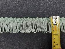 Water Green Loop Dress Fringe Trimming Sold per metre