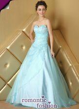 ♥Größe,34,36,8,40,42,44,46,48 ,50 52 od 54 Ballkleid Abendkleid  Blau+E480♥