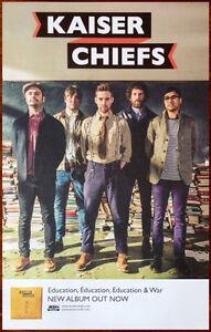 KAISER CHIEFS Education & War Ltd Ed RARE Tour Poster +BONUS Rock Indie Poster