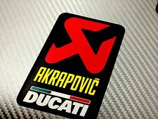 1 Adesivo Sticker AKRAPOVIC Ducatri Alte Temperature High Temperatures