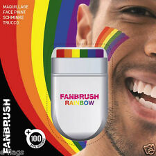 WHOLESALE 12 X FANBRUSH FACE PAINT RAINBOW GAY PRIDE FLAG COLOURS