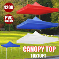 10x10ft Canopy Top Replacement Patio Gazebo Outdoor Sunshade Tent Cover 420D