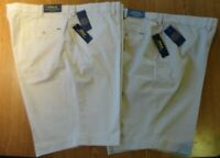 NWT Polo Ralph Lauren BEIGE, TAN Suffield Flat Front Shorts Big &Tall