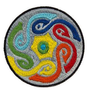 Gestickte Patches Schleife Psychedelisch Grau Schamane Aus Hand Tibet Nepal 8546