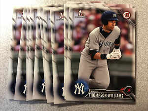 Dom Thompson-Williams 11 card rookie lot New York Yankees