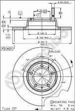 08.4070.20 - Dischi freno ANTERIORI BREMBO per Alfa Romeo 75, 90 2.4TD