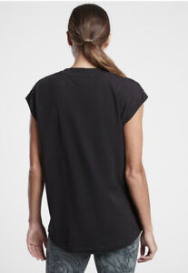ATHLETA Avenue Tee Top M Medium Black  NWT Lightweight #657842
