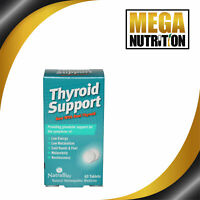 NatraBio Thyroid Support 60 Tablets | Low Energy Metabolism Cold Hands & Feet