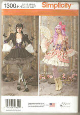 Simplicity Pattern 1300 Steampunk Cosplay Victorian Jacket Skirt Costumes 6-12