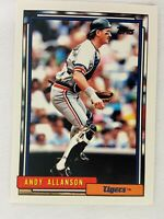 Andy Allanson Detroit Tigers 1992 Topps Baseball Card 167