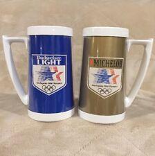 VTG Set 1984 Los Angeles Summer Olympics Plastic Thermo Serv Mugs Cups Budweiser