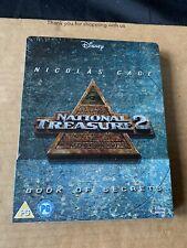 NATIONAL TREASURE 2 BOOK OF SECRETS UK BLU RAY STEELBOOK NEW & SEALED
