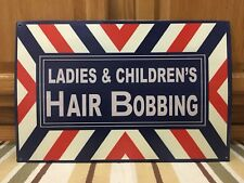 Ladies Childrens Hair Bobbing Style Cut Shave Nail Beauty Salon Vintage Style