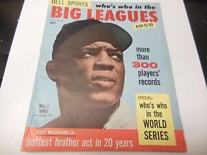 1958 WHO'S WHO IN THE BIG LEAGUES BASEBALL MLB GUIDE WILLIE MAYS COVER RARE