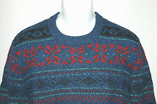 Woolrich Wool Mens Size Large Crewneck Sweater Multi-Color Pullover Long Sleeve