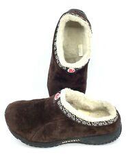 Merrell Encore Chill Slide Youth Sz 6 Brown Suede Fleece Lined Slip On Mule Shoe