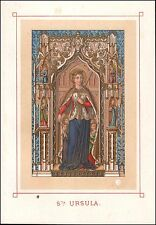 ★☆ HL. Ursula-Saint Ursula-Sant 'Orsola-chromolitho ORO 19.jh Holy Card