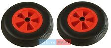 Dinghy Launch Trolley Wheels Pneumatic Boat Trailers Pair 1 inch centre hole
