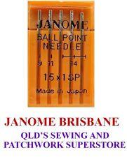 Janome BALL POINT Needles Assorted for Silks / Regular / Overlocker x 3 packets