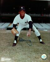Al Downing  Signed 8X10 Photo Autograph New York Yankees Blue Ink Auto w/COA