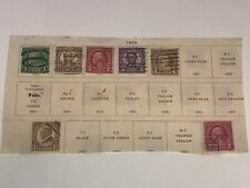 Hinged 1929 Us President Stamps- 7 Misc