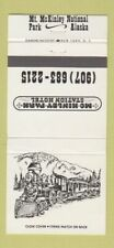 Matchbook Cover - Mt McKinley National Park AK Station Hotel 30 Strike