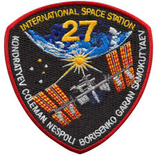 International Space Station - Expedition 27 - Embroidered Patch 10cm x 10cm