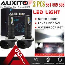 2X 881 889 LED Fog Light Driving Bulb High Power 2600LM DRL 6000k Xenon White EA