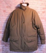 Vintage EXCELLENT Mens L EDDIE BAUER Down Coat Winter Chore Brown Lined Jacket