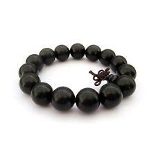 15mm Black Sandalwood Wood Beads Tibet Buddhist Prayer Bracelet Mala