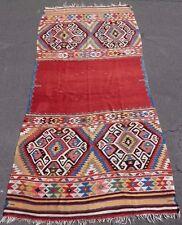 """Stunning 19thC SW Anatolian 5x10 FETHIYE """"Deve Ortusu"""" (Camel Cover) Kilim. WOW!"""
