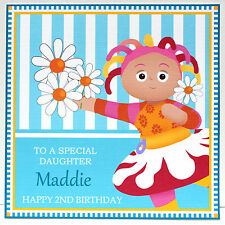 IN THE NIGHT GARDEN - UPSY DAISY PERSONALISED Birthday Card Daughter .. any text