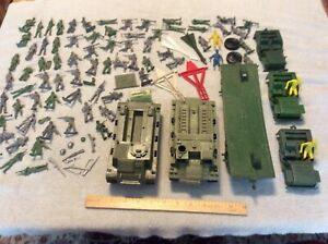Vintage Military Playset Toy Soldiers, Tanks, Jeeps and More