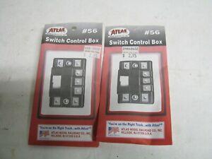 "2 ATLAS HO "" # 56 SWITCH CONTROL BOXES-NIP-NICE!"