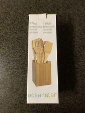 Oceanstar Design 7-Piece Bamboo Cooking Utensil Set - BRAND NEW
