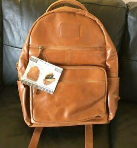 Quagga Buffalo Leather Backpack, Brown – Brand New