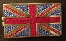 ESTEE LAUDER BEAUTIFUL JEWELED FLAG OF BRITAIN COMPACT FOR SOLID PERFUME - NEW