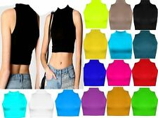 Unbranded Polo Neck Cropped Women's Other Tops