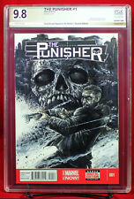 PUNISHER #1 PGX (not CGC) 9.8 NM/MT Original Sketch Cover by CHAD KNOPF !!!