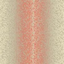 Wallpaper Modern Dot Metrics Stripe in Gold Orange on Taupe Background