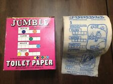 Vintage 1981 Scramble WORD JUMBLE Game Crossword Toilet Paper Tissue