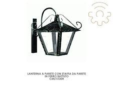 Lanterna lampada da parete con staffa a parete cm31x30h ferro battuto esterno