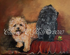 "A ""Pair of Cairn Terriers"" Note Cards Set of 10 Identical Blank Dog Cards Toto"