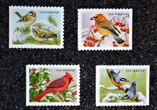 2016USA #5126-5129 Forever Songbirds in the Snow - Set of 4 Singles  Mint birds